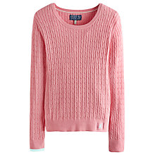 Buy Joules Hayle Cable Knit Jumper, Pretty Pink Marl Online at johnlewis.com