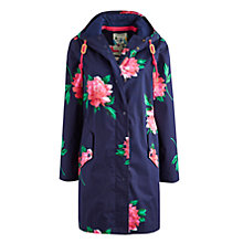 Buy Joules Right as Rain Waterproof Parka, Navy Peony Online at johnlewis.com