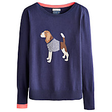 Buy Joules Marsha Beagle Jumper, French Navy Online at johnlewis.com