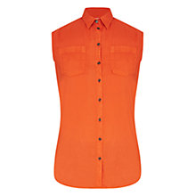 Buy Barbour Sleeveless Shirt, Amber Online at johnlewis.com