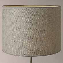 Buy John Lewis Wilfred Textured Cylinder Lampshade, Grey Online at johnlewis.com