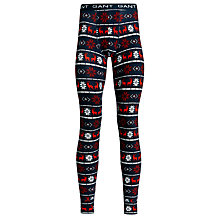 Buy Gant Reindeer Long Johns, Navy/Red Online at johnlewis.com