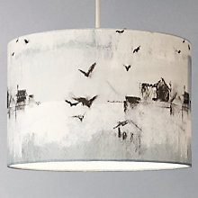 Buy John Lewis Croft Collection Southwold Cylinder Shade, Blue Online at johnlewis.com