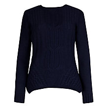 Buy Ted Baker Cable Engineered Jumper, Blue Online at johnlewis.com