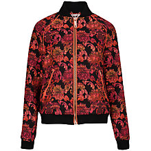 Buy Ted Baker Boucle Bomber Jacket, Pink/Black Online at johnlewis.com