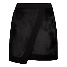 Buy Ted Baker Pony Skin Mini Skirt, Black Online at johnlewis.com