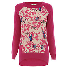 Buy Oasis The Hannah Jumper, Bright Pink Online at johnlewis.com