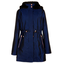 Buy Ted Baker Hooded Parka Coat, Bright Blue Online at johnlewis.com
