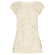 Buy Oasis Crochet T-Shirt Online at johnlewis.com