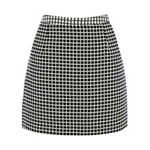 Buy Oasis Lottie Mini Skirt, Black/White Online at johnlewis.com