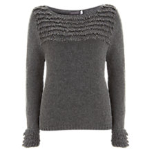 Buy Mint Velvet Loopy Yoke Jumper, Grey Online at johnlewis.com