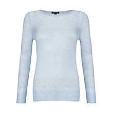 Buy Warehouse Pointelle Zip Cuff Crew Neck Jumper Online at johnlewis.com