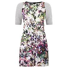 Buy Warehouse Floral Print Playsuit, Multi Rainbow Online at johnlewis.com
