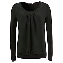 Buy Mint Velvet Double Front Woven Tee Online at johnlewis.com