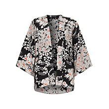 Buy Warehouse Kyoto Print Kimono, Black Online at johnlewis.com