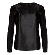 Buy Ted Baker Pony Skin Jumper, Black Online at johnlewis.com