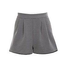 Buy Miss Selfridge Monochrome Textured Shorts, Black/White Online at johnlewis.com
