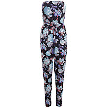 Buy Miss Selfridge Floral Bandeau Jumpsuit, Multi Online at johnlewis.com
