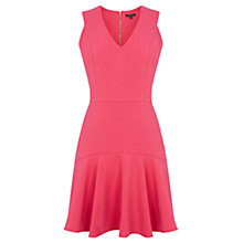 Buy Warehouse Jacquard Dress, Bright Pink Online at johnlewis.com