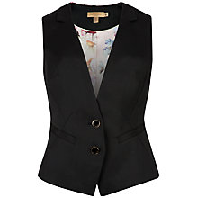 Buy Ted Baker Timeless Suit Waistcoat, Black Online at johnlewis.com