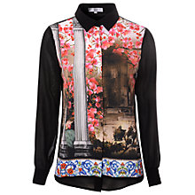 Buy True Decadence Floral Temple Chiffon Blouse, Multi Online at johnlewis.com
