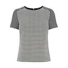 Buy Oasis Lottie Top, Black / White Online at johnlewis.com