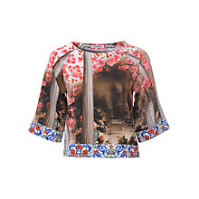 Buy True Decadence Floral Temple Co-Ord Crop Blouse, Multi Online at johnlewis.com