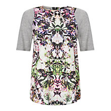 Buy Warehouse Floral Print T-Shirt, Multi Rainbow Online at johnlewis.com