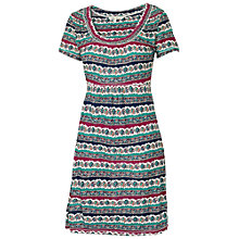 Buy Fat Face Bridlington Floral Tunic Dress, Green/Ivory Online at johnlewis.com