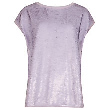 Buy Ted Baker Sequined Top, Light Purple Online at johnlewis.com