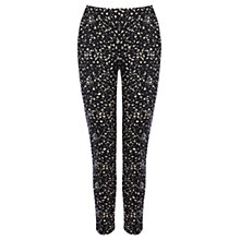 Buy Warehouse Mini Shadow Print Scuba Trousers, Black Online at johnlewis.com