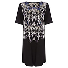 Buy Warehouse Feather Print Dress, Multi Online at johnlewis.com