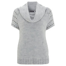 Buy Mint Velvet Stud Shoulder Tabard, Grey Online at johnlewis.com
