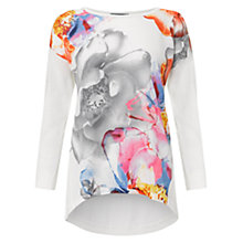 Buy Warehouse Floral Woven Jumper, White Online at johnlewis.com
