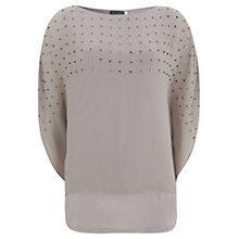 Buy Mint Velvet Square Bead Layer Top, Purple Online at johnlewis.com
