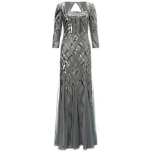 Buy Adrianna Papell Bead Art Deco Dress, Slate Online at johnlewis.com