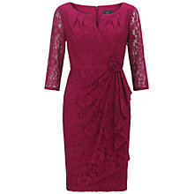 Buy Adrianna Papell Lace Rosette Dress, Chianti Online at johnlewis.com