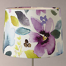 Buy John Lewis Bluebell Christine Grey Tapered Lamp Shade, Multi Online at johnlewis.com