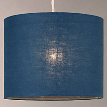 Buy John Lewis Croft Collection Linen Lampshade, Lake Blue Online at johnlewis.com