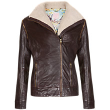 Buy Ted Baker Detachable Sleeve Leather Jacket Online at johnlewis.com