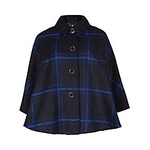 Buy Ted Baker Checked Cape, Bright Blue Online at johnlewis.com
