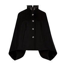 Buy Ted Baker Embellished Collar Cape, Black Online at johnlewis.com