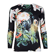 Buy Ted Baker Opulent Bloom Print Jumper, Multi Online at johnlewis.com
