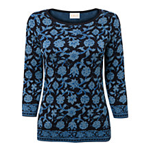 Buy East Dora Jacquard Jumper, Cobalt Online at johnlewis.com