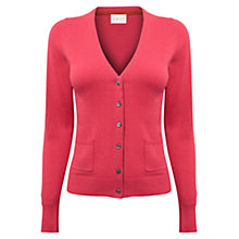 Buy East V-Neck Button Cardigan, Coral Online at johnlewis.com