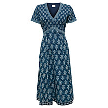 Buy East Chayla Print Dress, Indigo Online at johnlewis.com