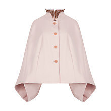 Buy Ted Baker Embellished Collar Cape, Pale Pink Online at johnlewis.com