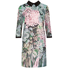 Buy Ted Baker Glitch Floral Print Tunic Dress, Peach Online at johnlewis.com