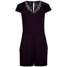 Buy Ted Baker Cap Sleeve Playsuit, Purple Online at johnlewis.com