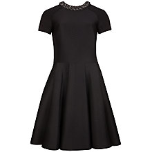 Buy Ted Baker Embossed Neoprene Dress, Black Online at johnlewis.com